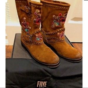 Frye embroidered boots